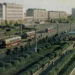Проспект Октября. Уфа, 1970 год