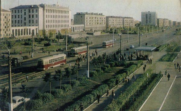 Prospect of October. Ufa, 1970