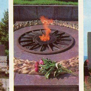 Памятный знак на месте форсирования Днепра в 1943 году. Каменское, Днепродзержинск), 1977 год