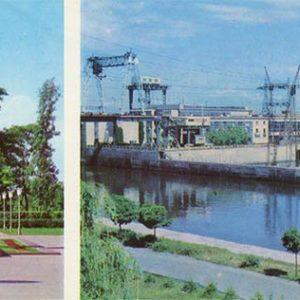 Днепродзержинская ГЭС. Памятник В.И. Ленину. Каменское, Днепродзержинск), 1977 год