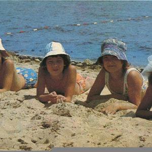 Children on the beach. Yevpatoriya, 1985