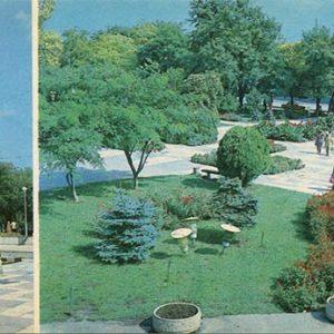 Городмкой сквер. Памятник М.О. Токареву. Евпатория, 1985 год