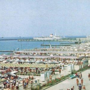 Пляж. Сочи, 1986 год