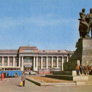A monument to the Urals Volunteer Tank Corps. Sverdlovsk, 1970