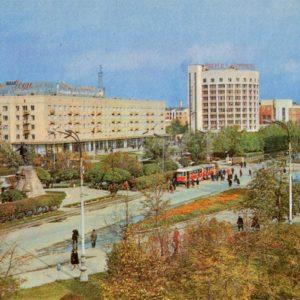 Вид на проспект им. Ленина. Свердловск, 1970 год