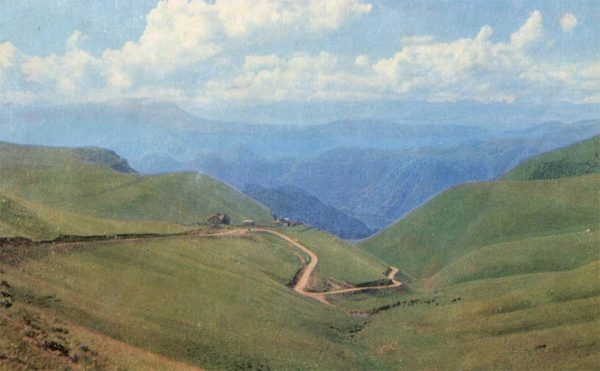 Road to Narzanov Valley. Kislovodsk, 1971
