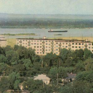 Поселок строителей Каневской ГЭС.  Канев, 1968 год
