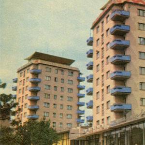 Высотные дома на Транспортной площади. Запорожье, 1969 год