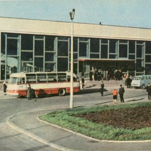 Bus station. Exactly, 1968