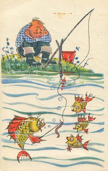 Тема сегодняшнего урока червяк, как наживка, 1968 год