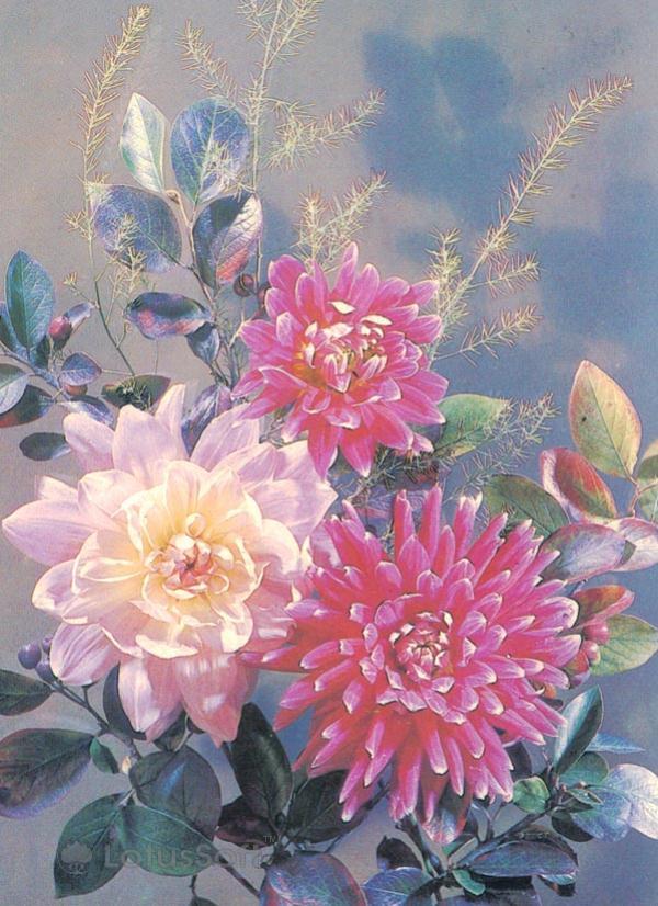 Композииция из цветов, 1987 год