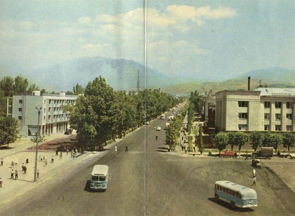 Проспект В.И. Ленина, Душанбе, 1960 год