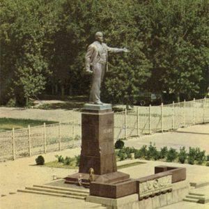 Памятник В.И. Ленину, Душанбе, 1960 год