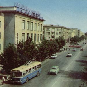 On VI Avenue Lenin, Dushanbe, 1960