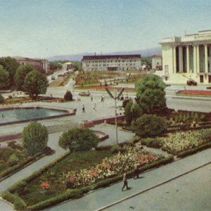 Площадь имени 800 летия Москвы, Душанбе, 1960 год