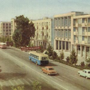 New residential buildings, Dushanbe, 1960