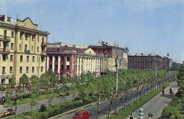 Prospect them. IN AND. Lenin, Yaroslavl, 1973