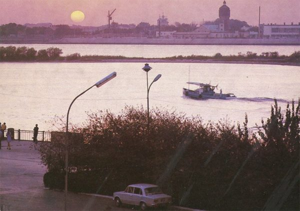 Evening on the Volga, Astrakhan, 1982