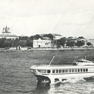 Вид на город с Волги, Астрахань, 1977 год