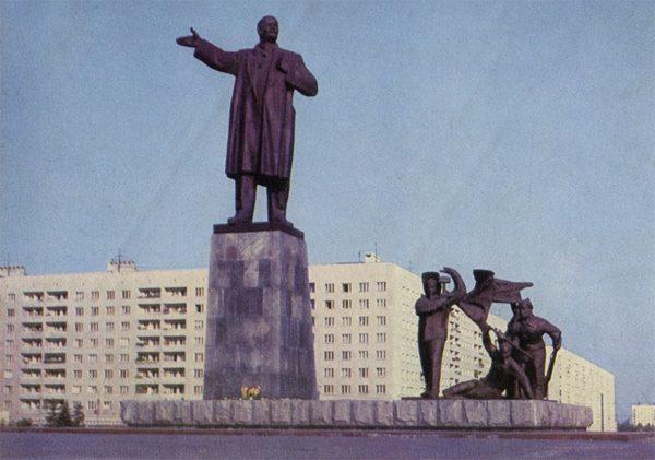 Памятник В.И. Ленину, Горький, 1976 год