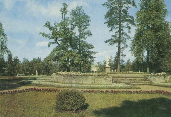 """Партеры """"Большие круги"""", Павловский парк, 1970 год"""