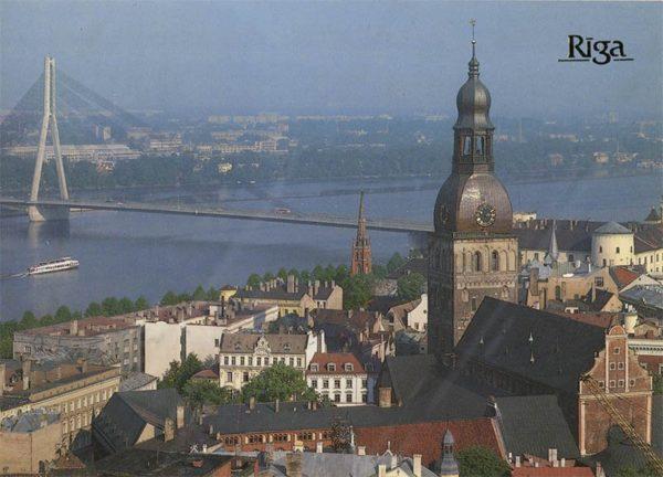 Панорама Старой Риги, Рига, 1989 год