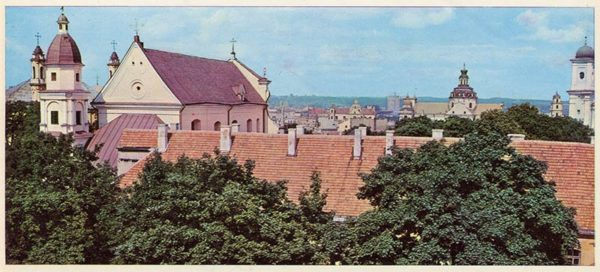 Вид на Старый город , Вильнюс, 1979 год