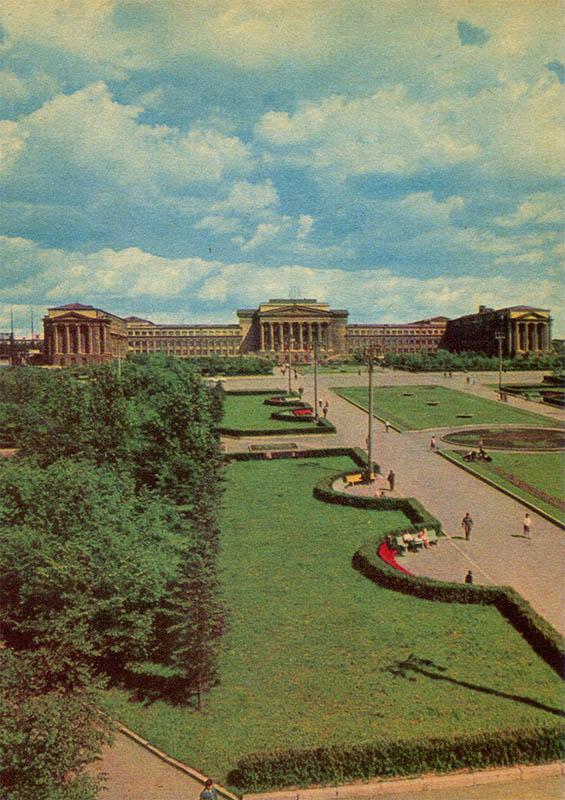 Площадь у Политехнического института, Свердловск, 1967 год
