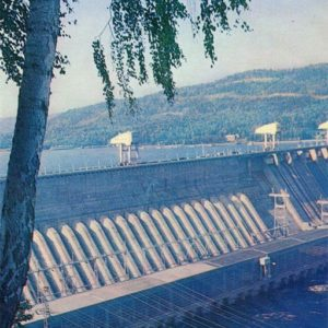 Красноярская ГЭС, Красноярск, 1978 год