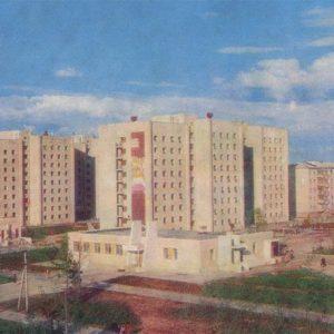 Новые жилые на Комсомольском проспекте, Надым, 1987 год