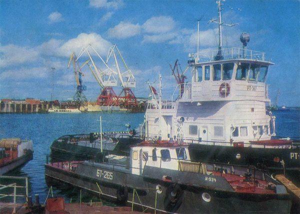 Речной порт, Надым, 1987 год