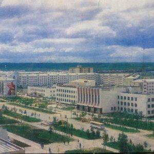 Вид на город, Надым, 1987 год