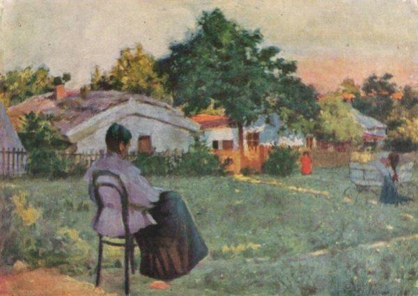 """К.К. Костанди. """"На даче"""", 1963 год"""