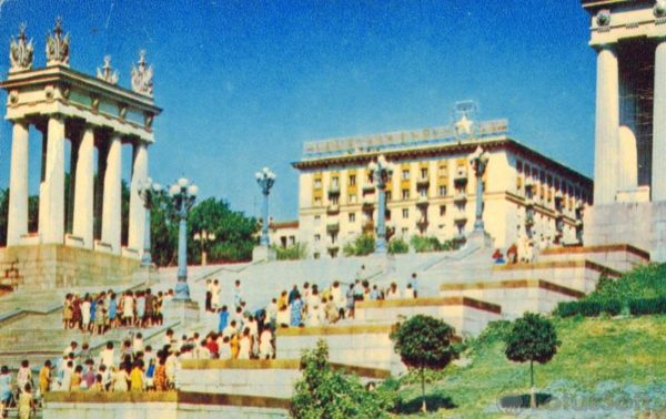 Volgograd. Stairs to the central waterfront, 1970