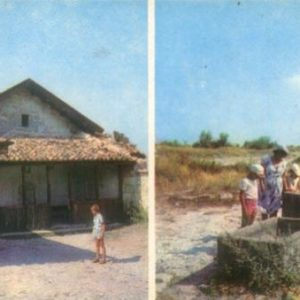 Bakhchisaray. Historical and Museum arhitektruny. Kenassas at Calais. Medieval drainage pit, 1984