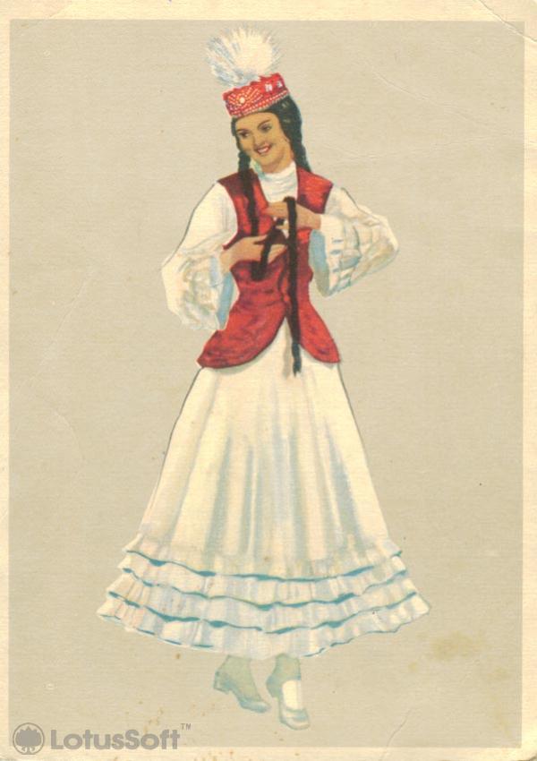 "Казахский народный танец ""Камажай"", 1957 год"