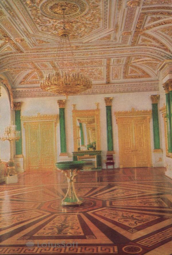 Leningrad. The Winter Palace, the Malachite Hall, 1968