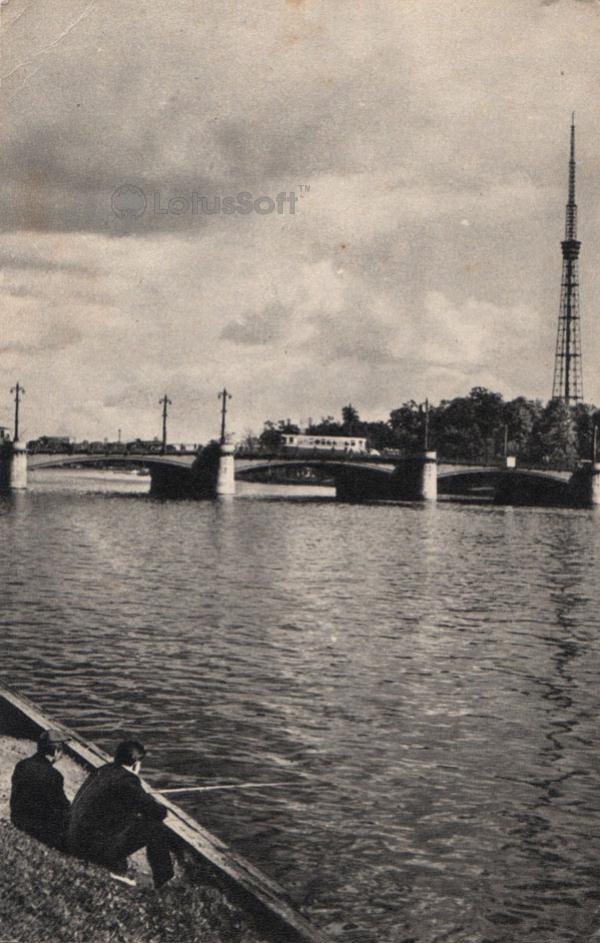 Leningrad, Ushakovsky Bridge, 1968