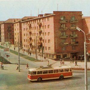 Проспект 50-летия Октября, Черновцы, 1973 год