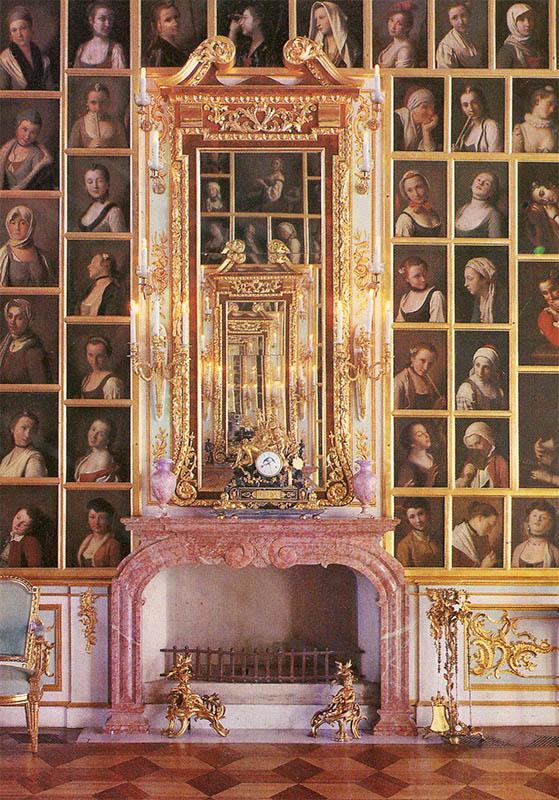 Портретный зал Большого дворца, Петродворец, 1980 год
