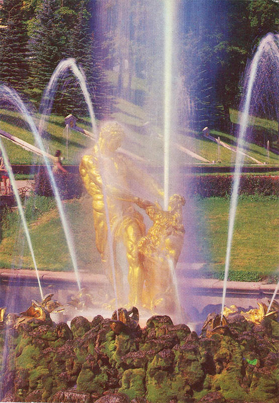 "Fountain ""Samson tearing the lion's mouth"", Peterhof, 1980"
