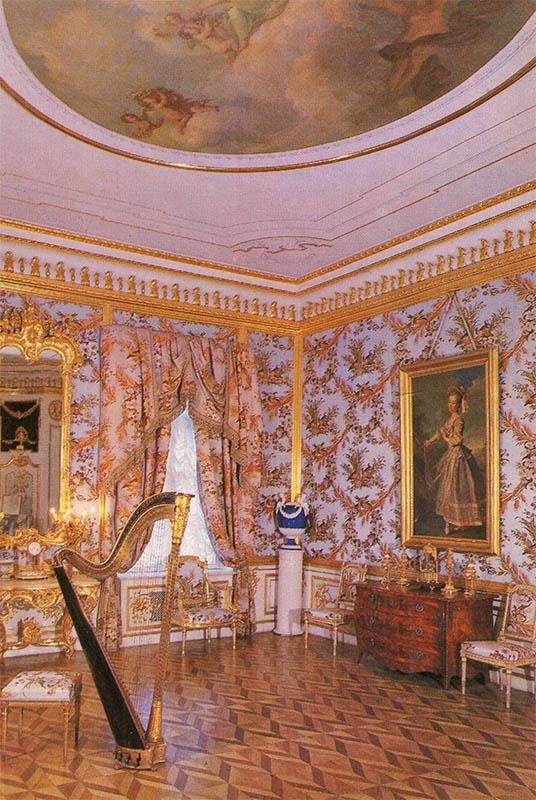 Куропаточная гостинная Большого дворца, Петродворец, 1980 год