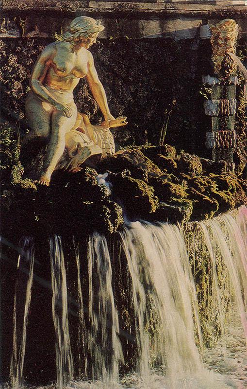 """Grand Cascade """"Neva"""", Peterhof, 1972"""