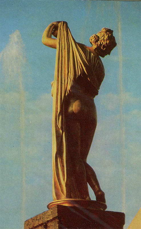 """Большой каскад """"Венера Каллипига"""", Петродворец, 1972 год"""