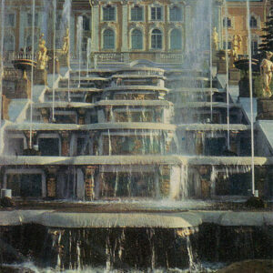 Grand Cascade and the Grand Palace, Peterhof, 1983