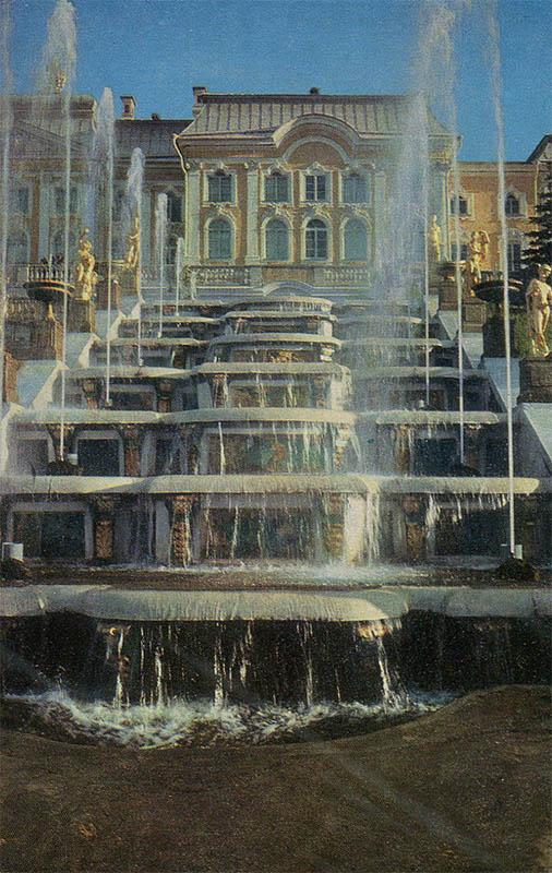Grand Cascade and the Grand Palace, Peterhof, 1983