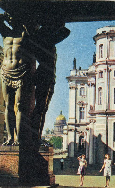 Портик Нового Эрмитажа ,Ленинград, 1970 год
