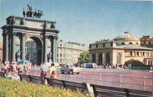 Нарвские ворота ,Ленинград, 1970 год