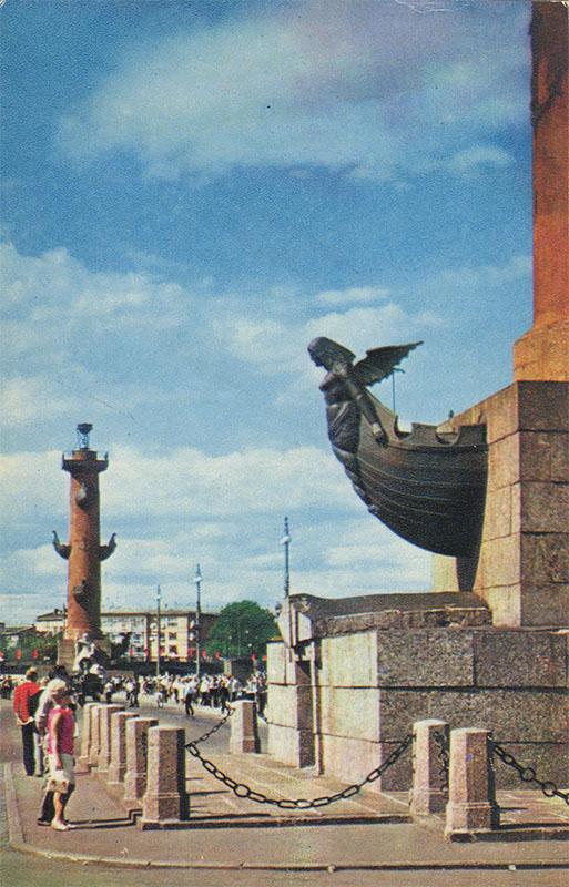 Ростральные колонны ,Ленинград, 1970 год