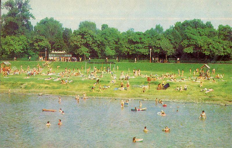 Городской пляж, Мукачево, 1979 год